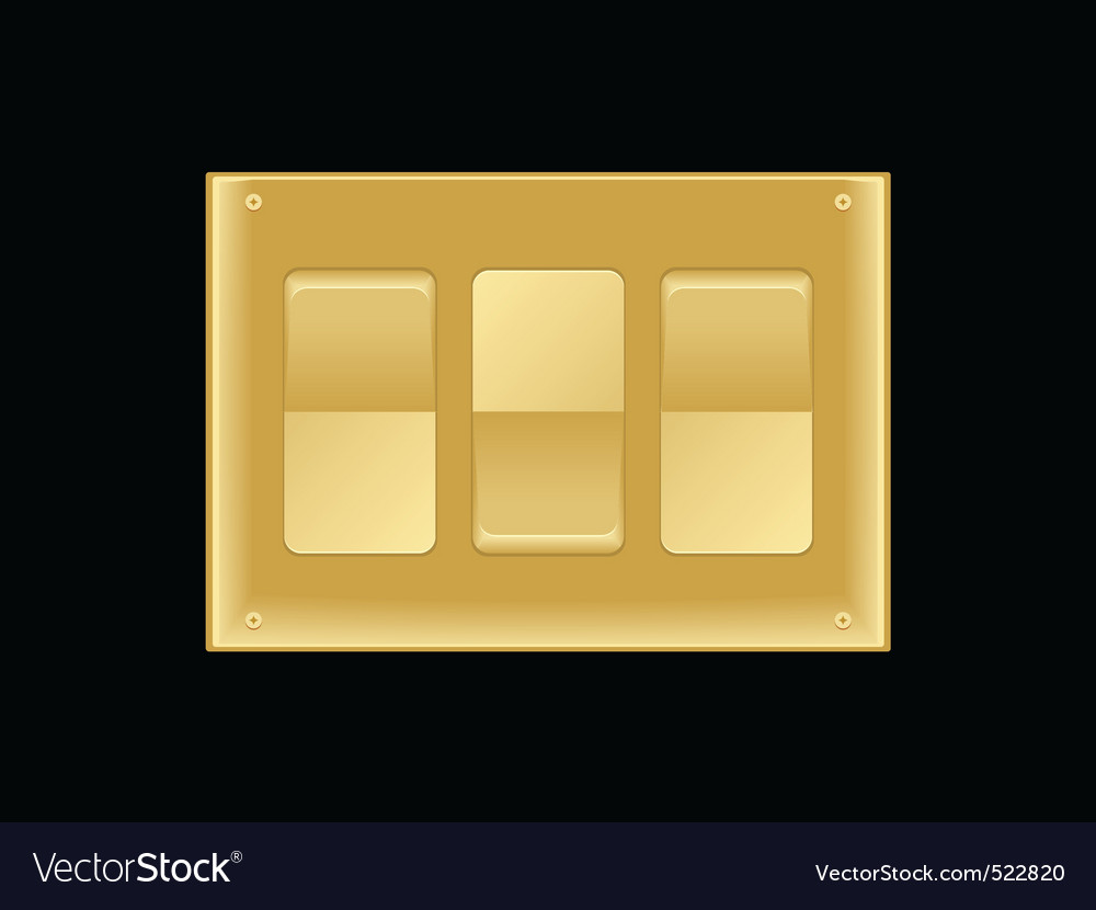 Triple light switch vector | Price: 1 Credit (USD $1)
