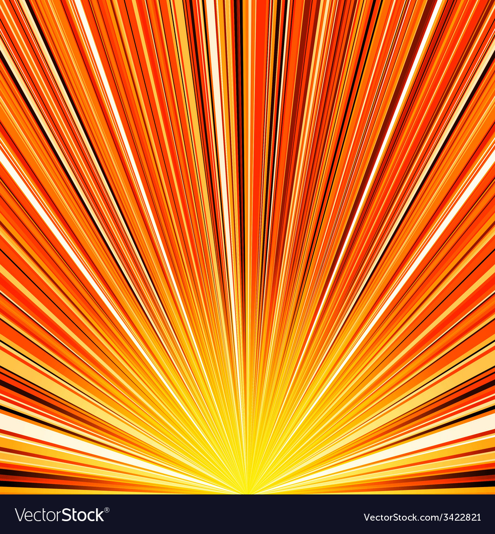 Abstract orange and yellow striped burst vector | Price: 1 Credit (USD $1)
