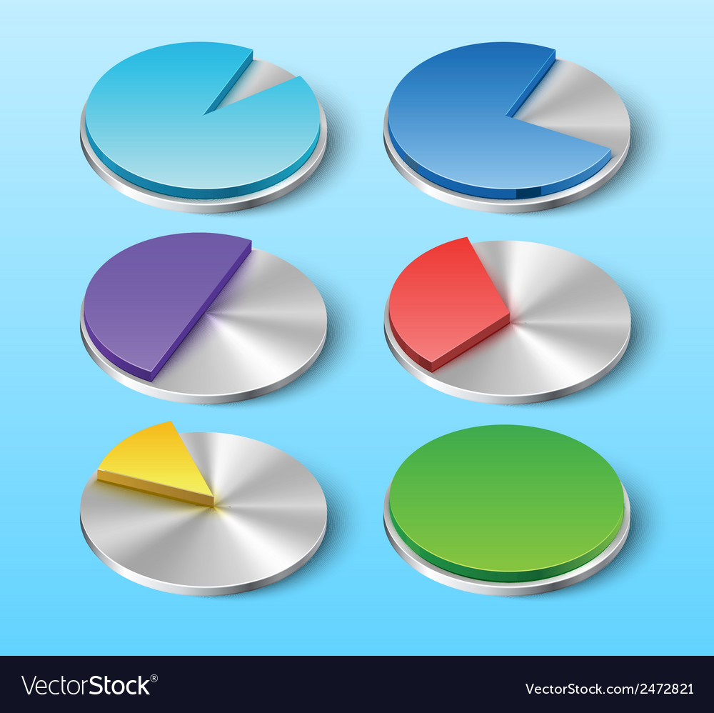 Business pie charts for your designs vector | Price: 1 Credit (USD $1)