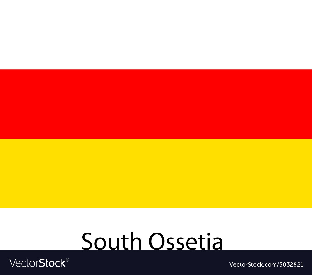 Flag of the country south ossetia vector | Price: 1 Credit (USD $1)