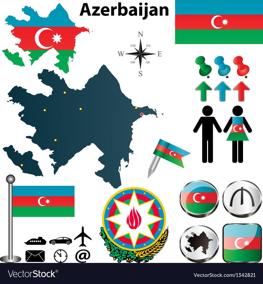 Map of azerbaijan vector | Price: 1 Credit (USD $1)