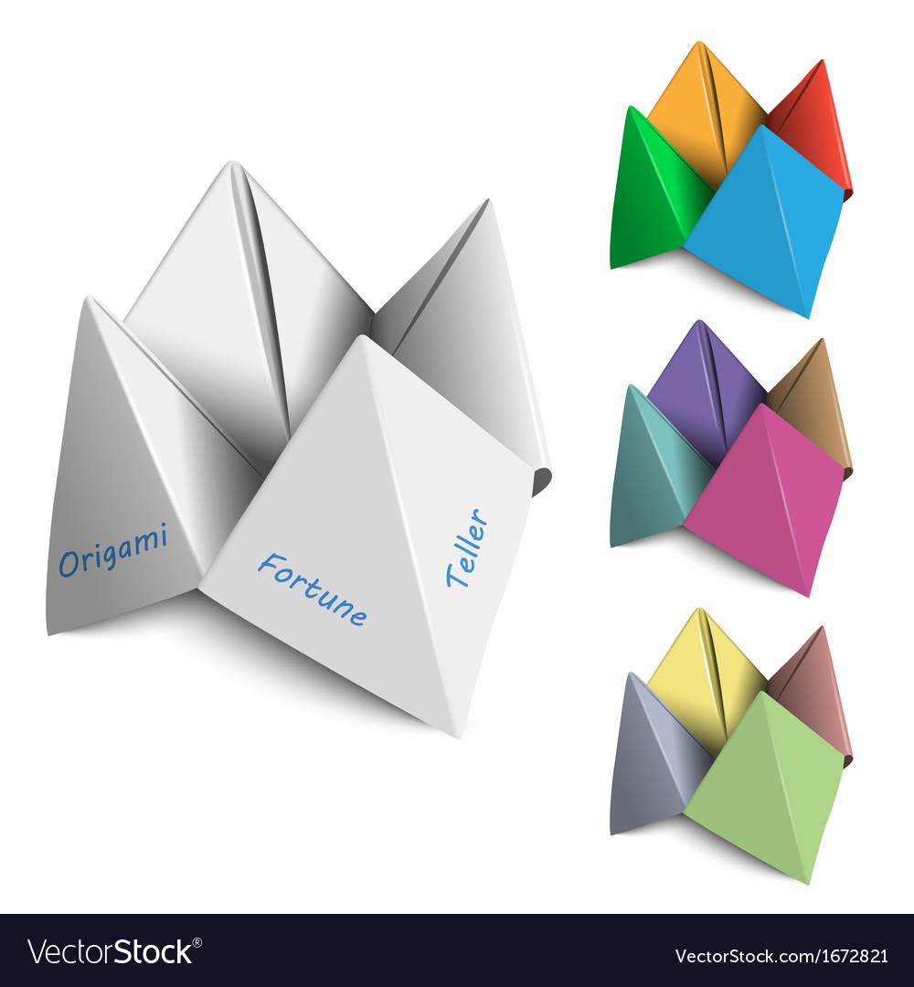 Origami fortune tellers vector | Price: 1 Credit (USD $1)