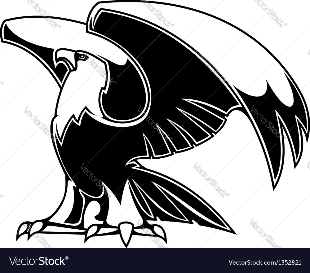 Powerful eagle vector | Price: 1 Credit (USD $1)