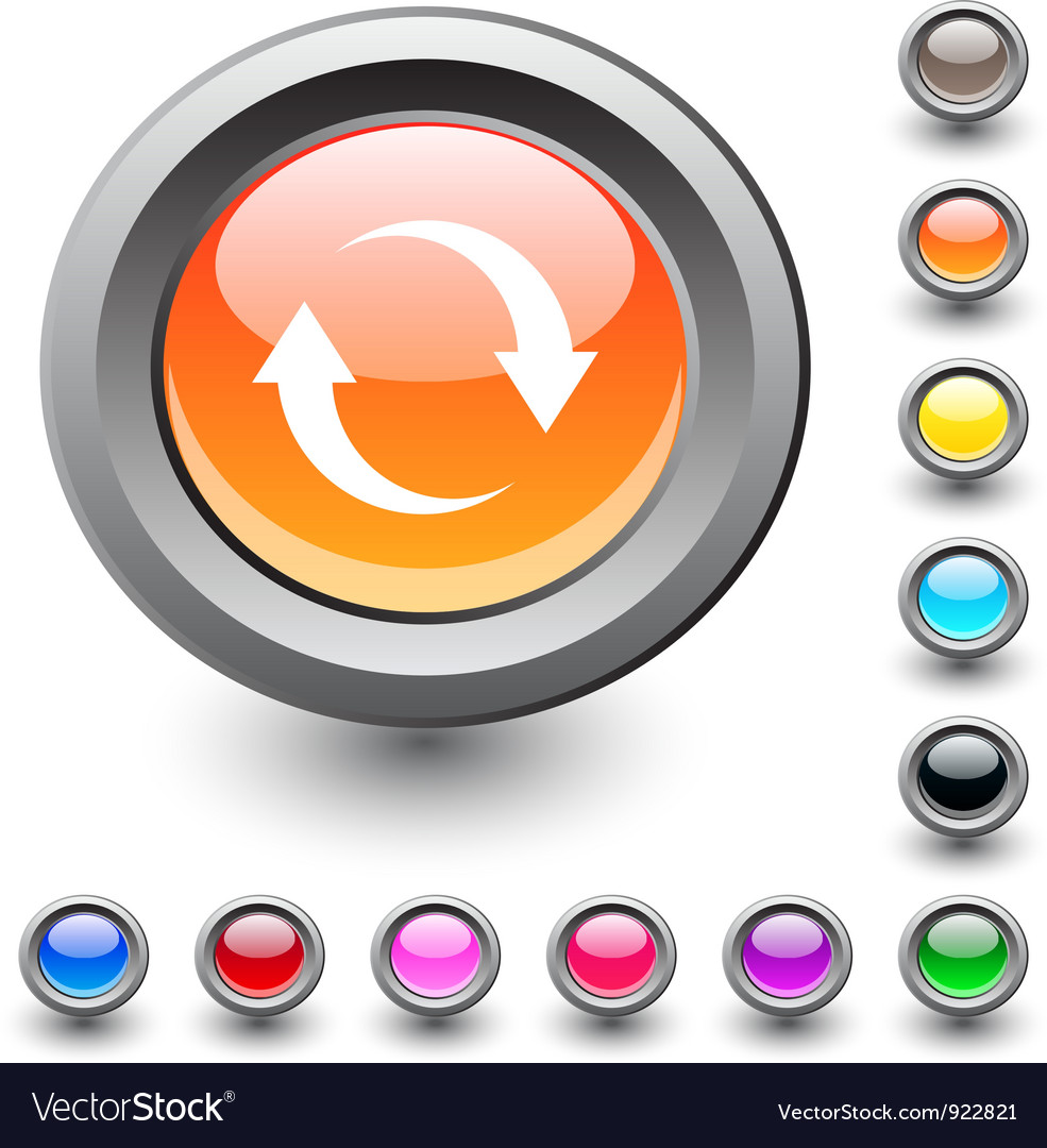 Refresh round button vector | Price: 1 Credit (USD $1)