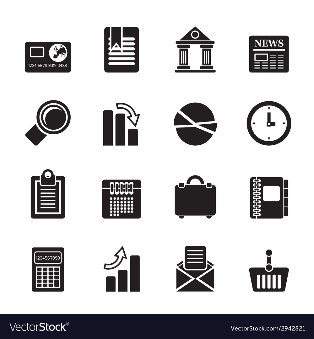 Silhouette business and office realistic internet vector | Price: 1 Credit (USD $1)