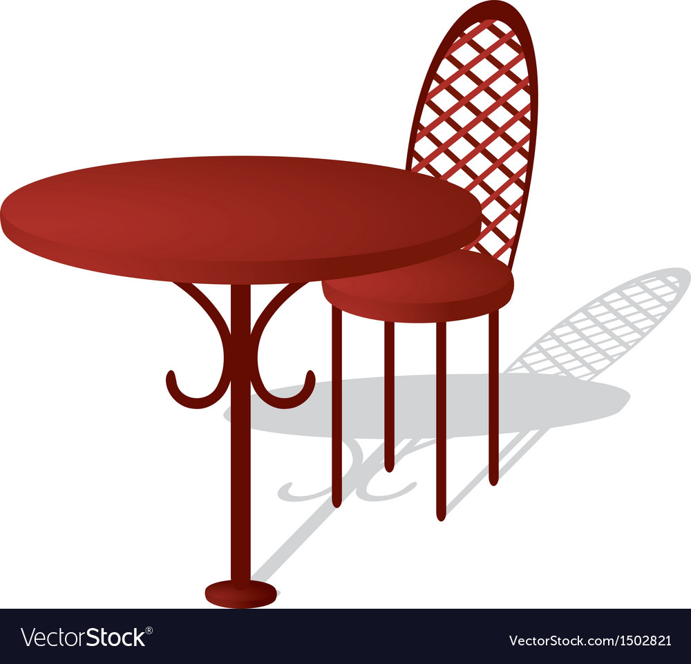 Table and chair vector | Price: 1 Credit (USD $1)