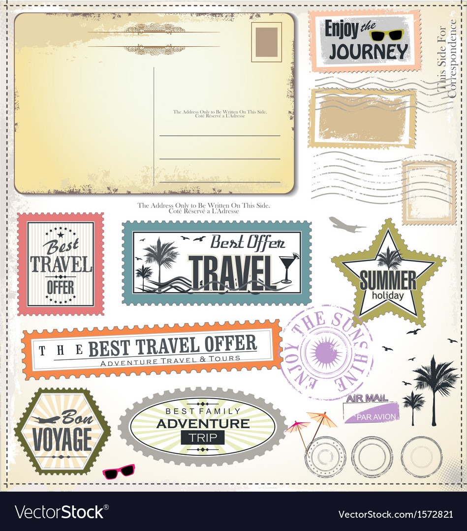 Travel design elements vector | Price: 3 Credit (USD $3)