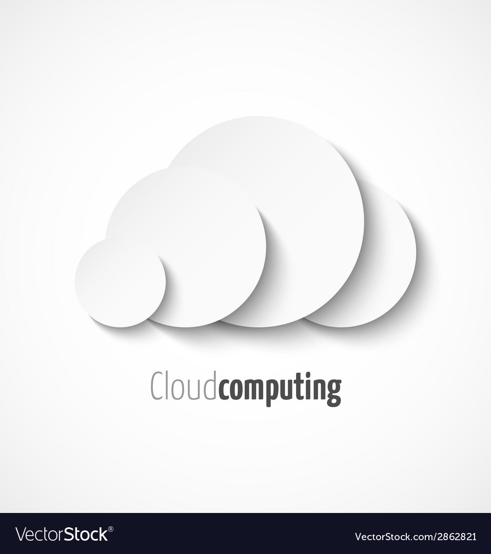 White paper cloud computing logo template icon vector | Price: 1 Credit (USD $1)