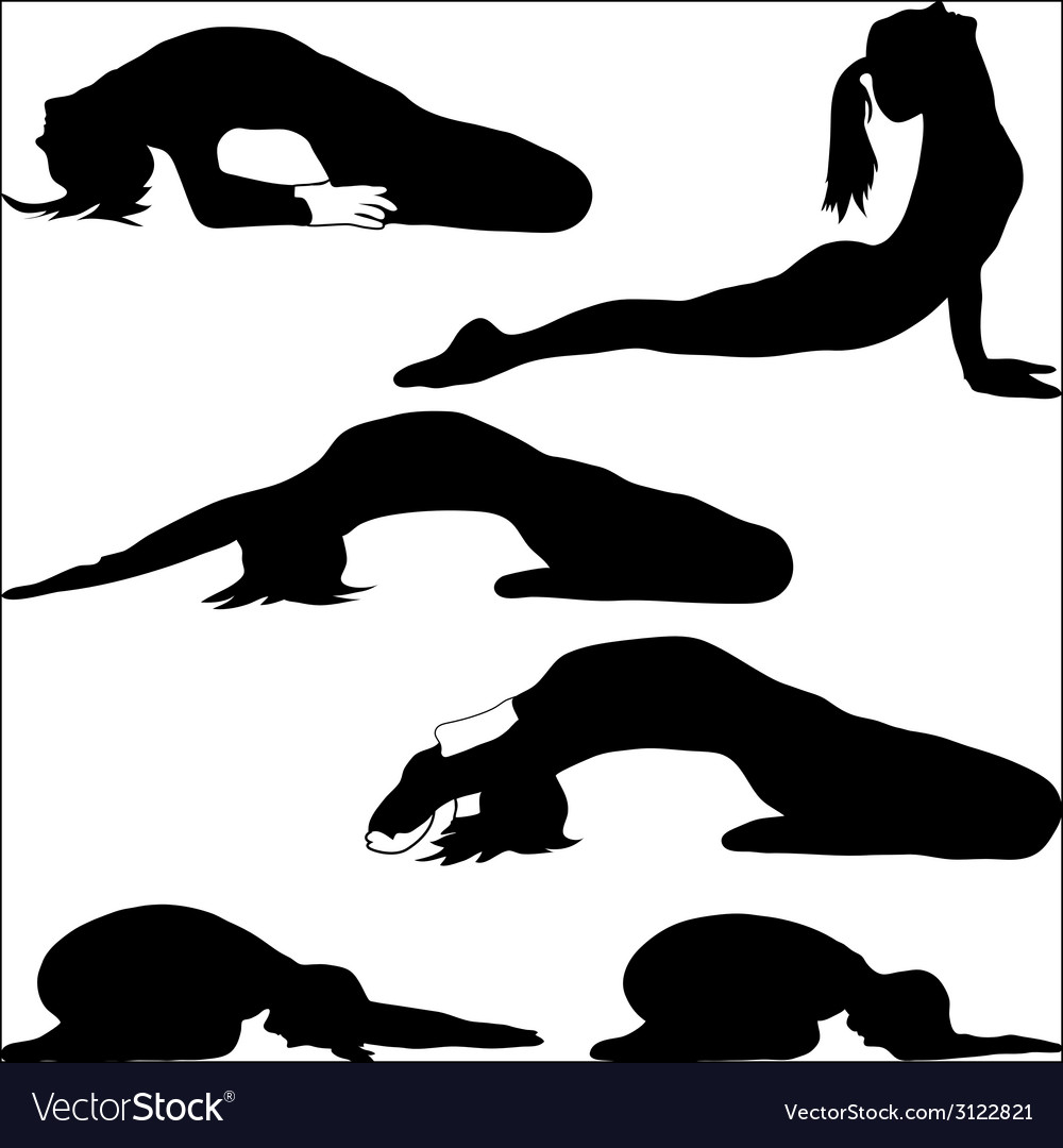 Yoga - a variety of exercises- vector | Price: 1 Credit (USD $1)