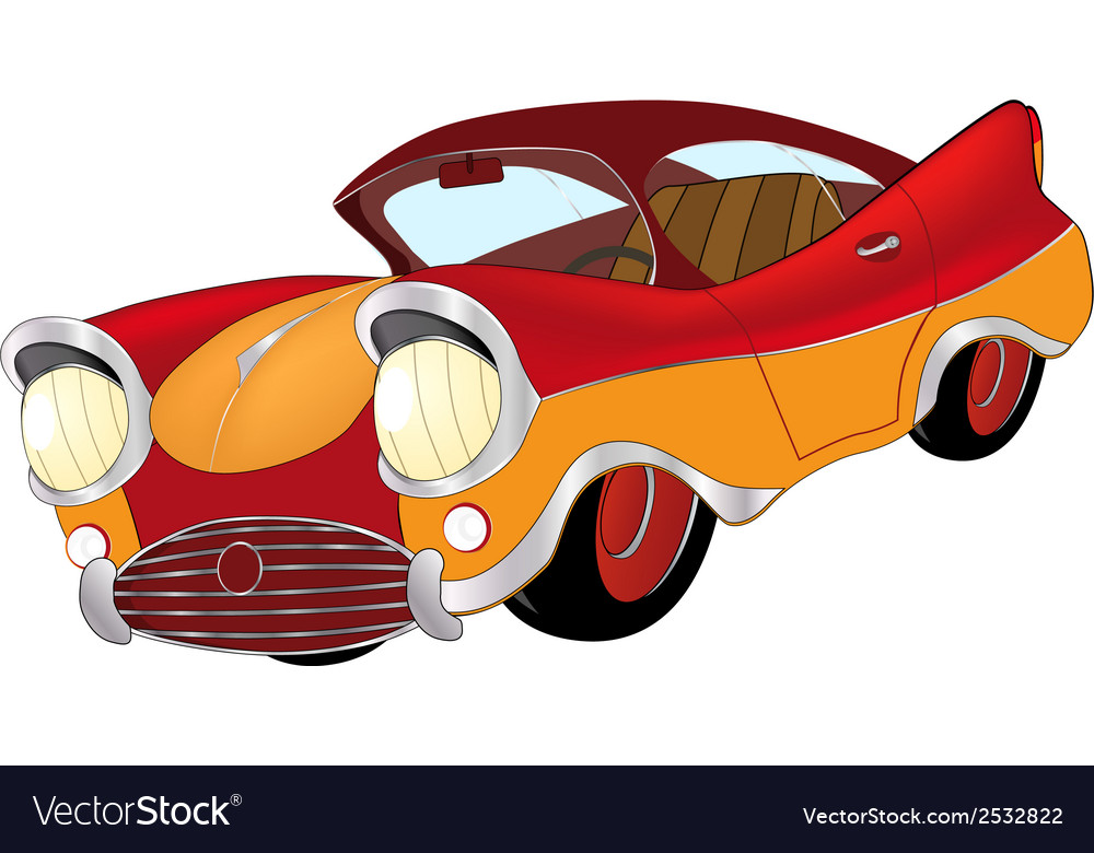A red toy car cartoon vector | Price: 1 Credit (USD $1)