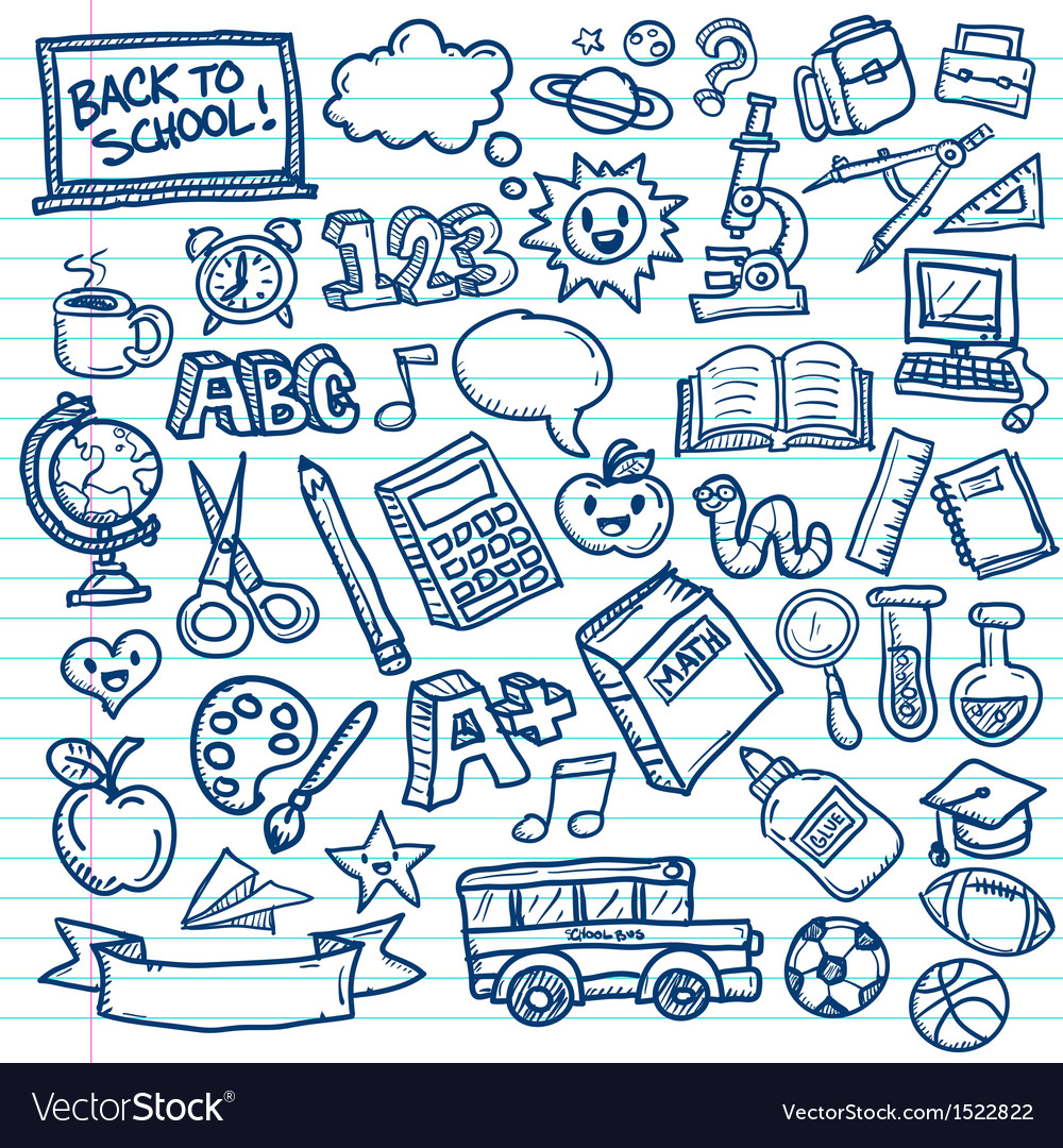 Back to school freehand doodles vector | Price: 1 Credit (USD $1)