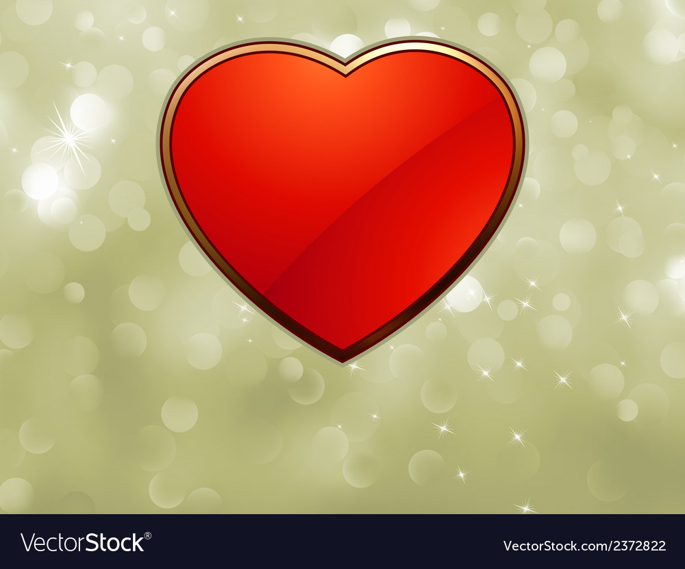 Beautiful valentine bokeh with red heart eps 8 vector | Price: 1 Credit (USD $1)