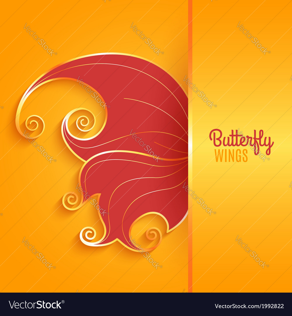 Card with abstract butterfly wing vector | Price: 1 Credit (USD $1)