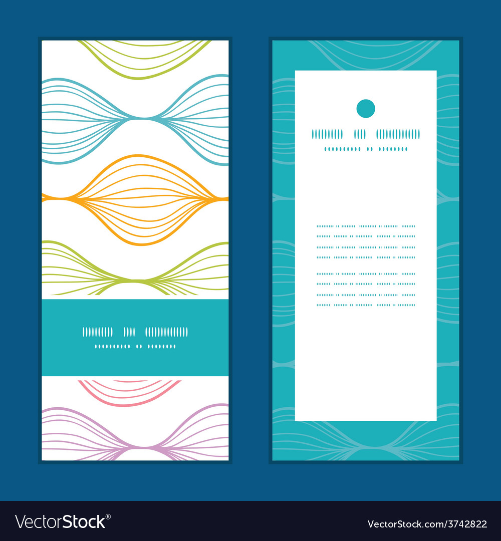 Colorful horizontal ogee vertical frame vector | Price: 1 Credit (USD $1)