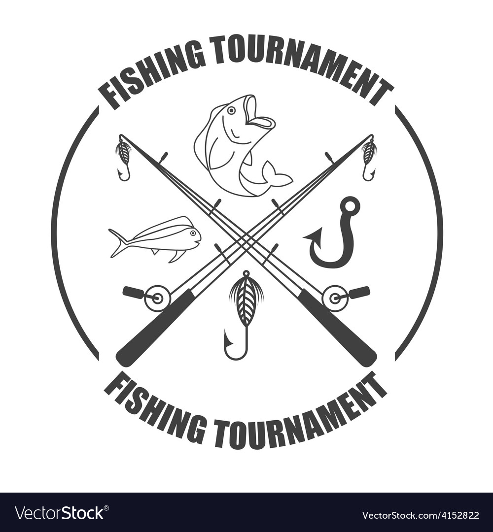 Fishing tournament vector | Price: 1 Credit (USD $1)