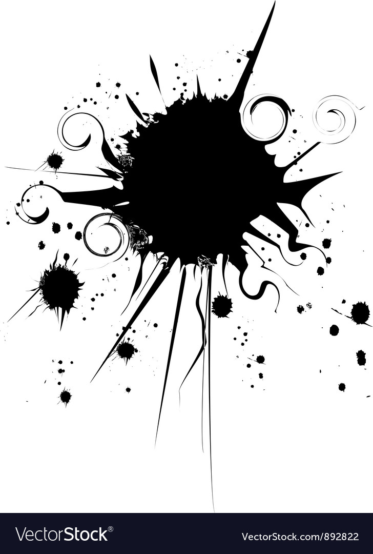 Ink grunge splat one spot vector | Price: 1 Credit (USD $1)