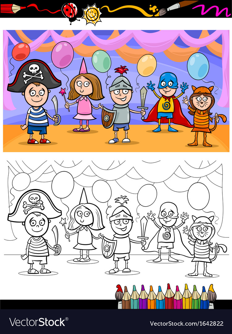 Kids ball for coloring book vector   Price: 1 Credit (USD $1)