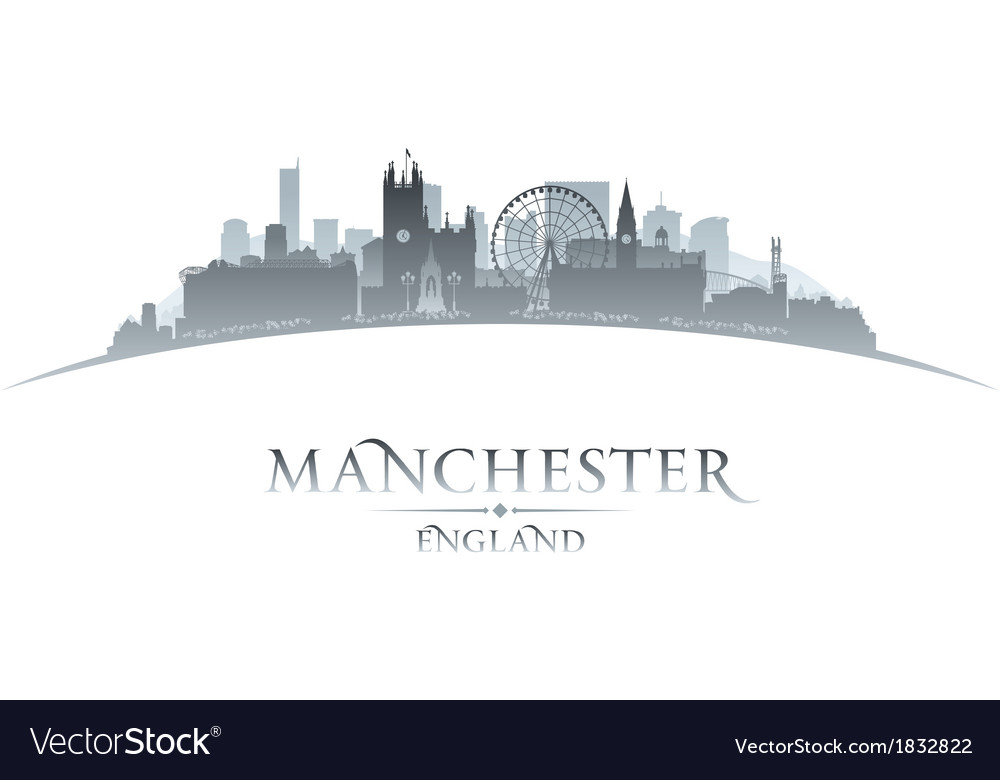 Manchester england city skyline silhouette vector | Price: 1 Credit (USD $1)