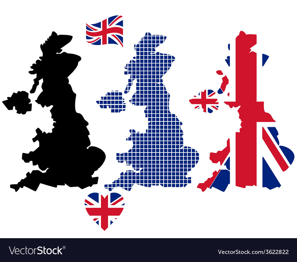 Map of england vector | Price: 1 Credit (USD $1)