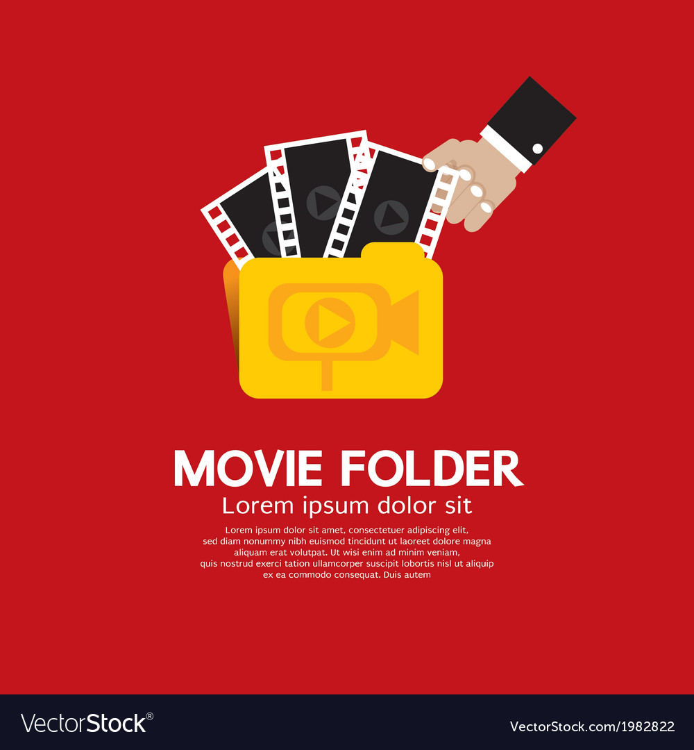 Movie folder vector | Price: 1 Credit (USD $1)