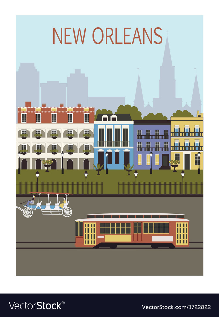 New orleans city vector | Price: 1 Credit (USD $1)