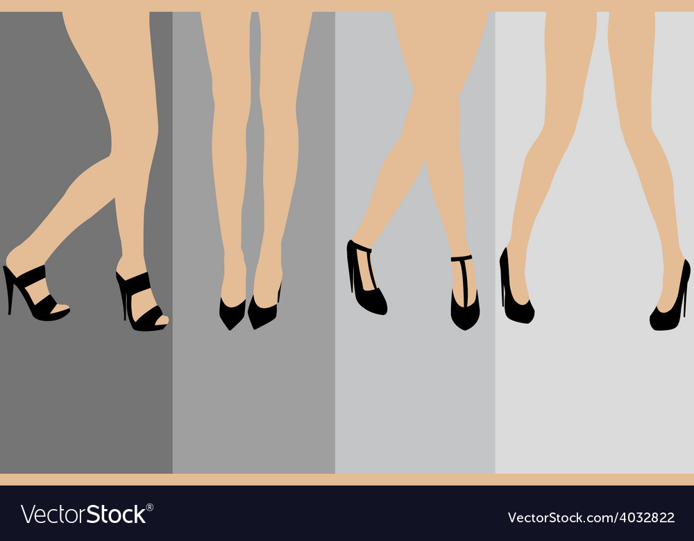 Set of advertisement concepts for stockings vector | Price: 1 Credit (USD $1)