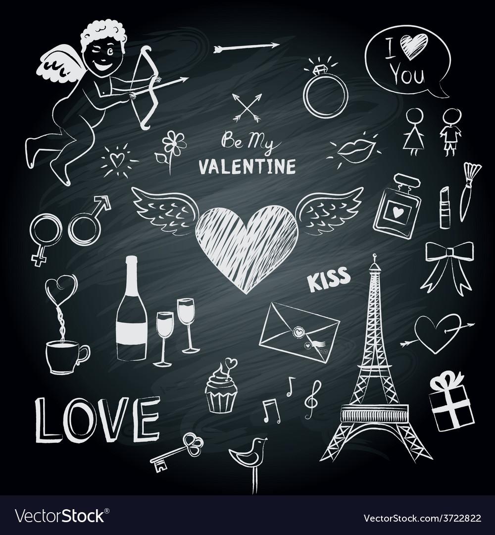 Valentines day symbols vector | Price: 1 Credit (USD $1)
