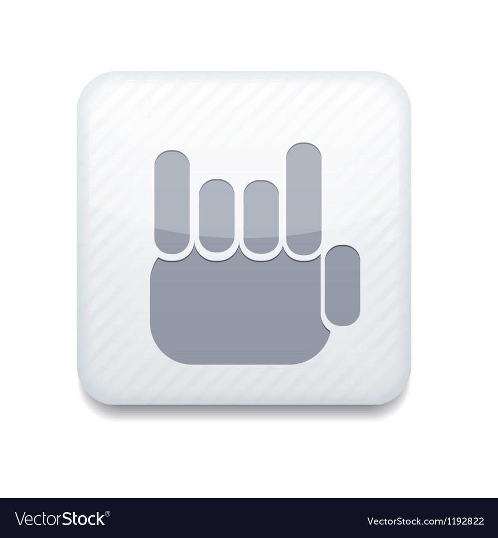 White fingers fan icon eps10 easy to edit vector | Price: 1 Credit (USD $1)