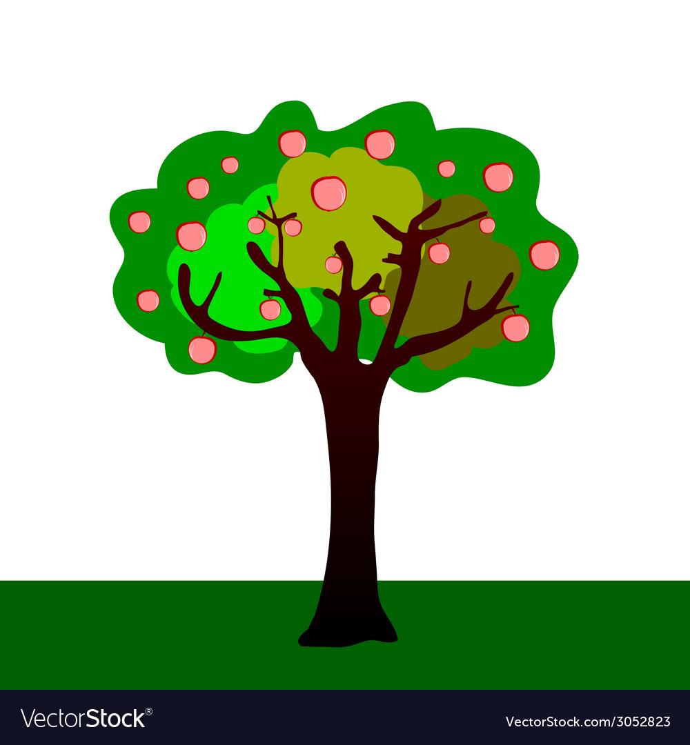 Apple tree vector | Price: 1 Credit (USD $1)