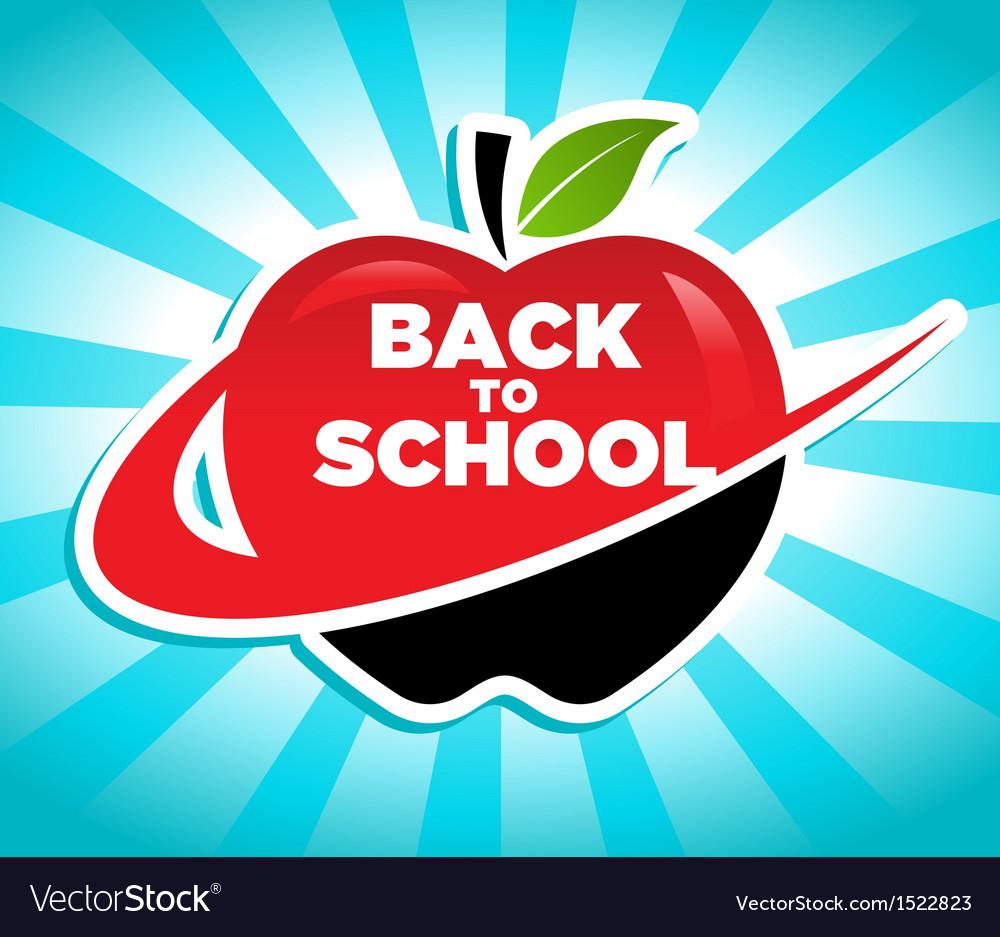 Back to school swoosh apple icon vector | Price: 1 Credit (USD $1)