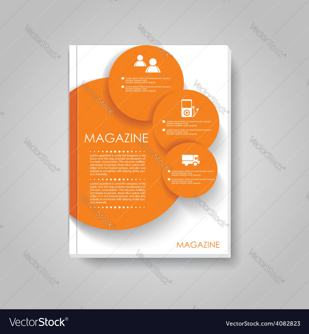 Brochure template design with circles elements vector | Price: 1 Credit (USD $1)