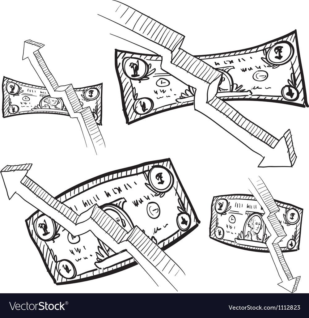 Doodle money inflation vector | Price: 1 Credit (USD $1)