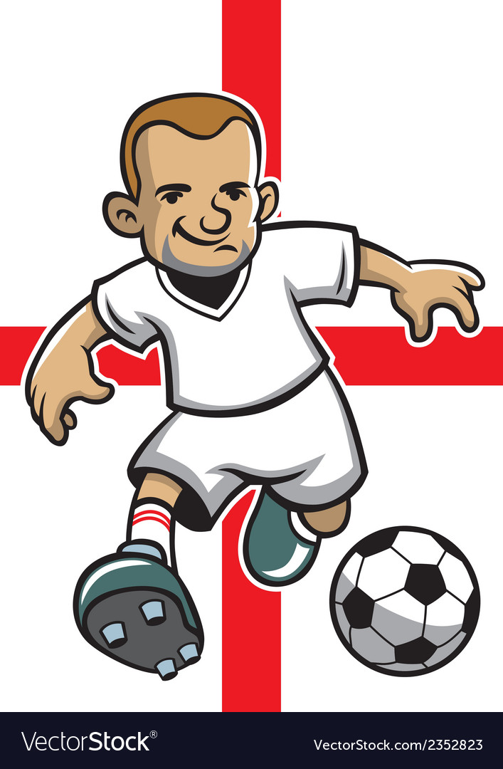 England soccer player with flag background vector | Price: 1 Credit (USD $1)
