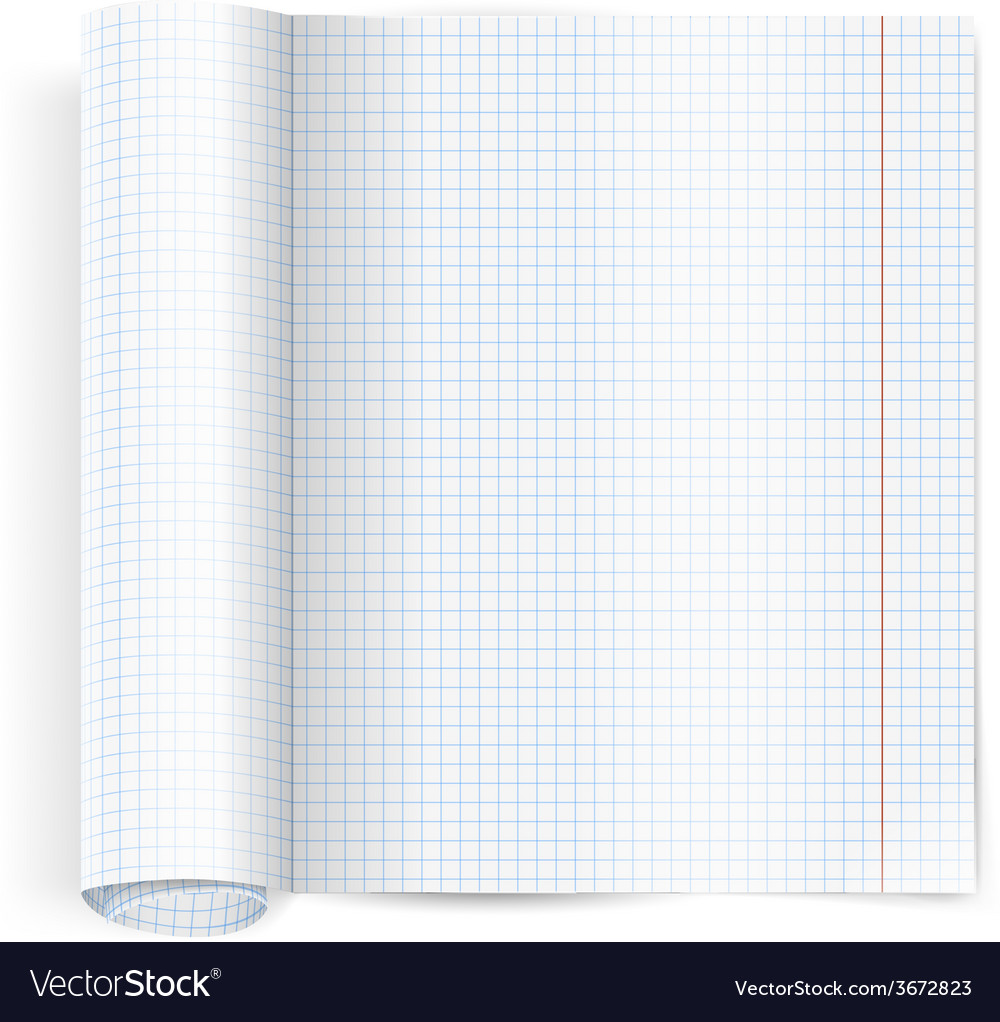 Exercise book vector | Price: 1 Credit (USD $1)