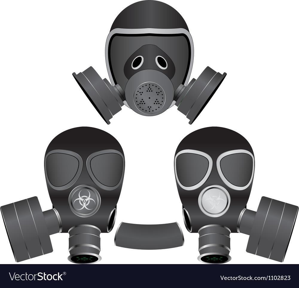 Gas masks vector | Price: 1 Credit (USD $1)