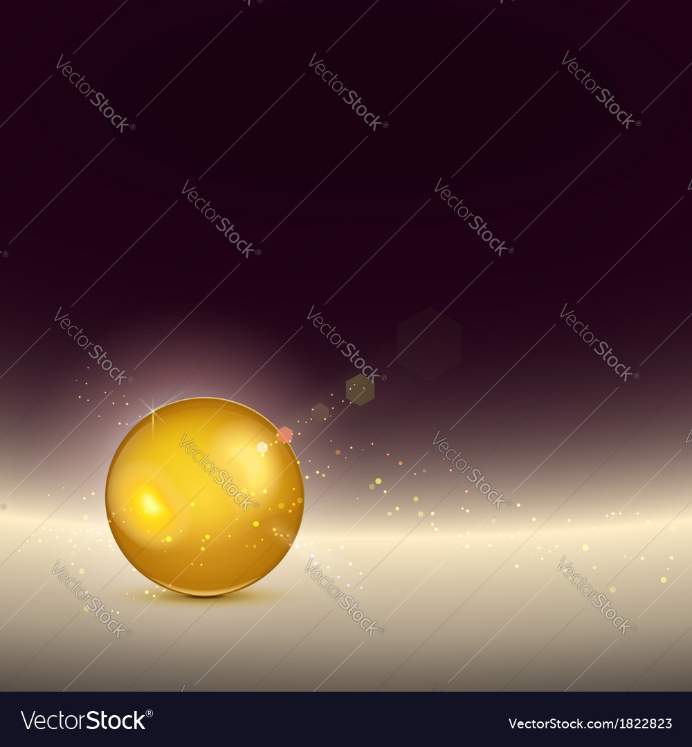 Golden shiny glow sphere backgroundcontains light vector | Price: 1 Credit (USD $1)
