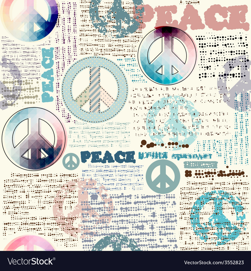 Imitation of grunge newspaper with pacific symbols vector | Price: 1 Credit (USD $1)