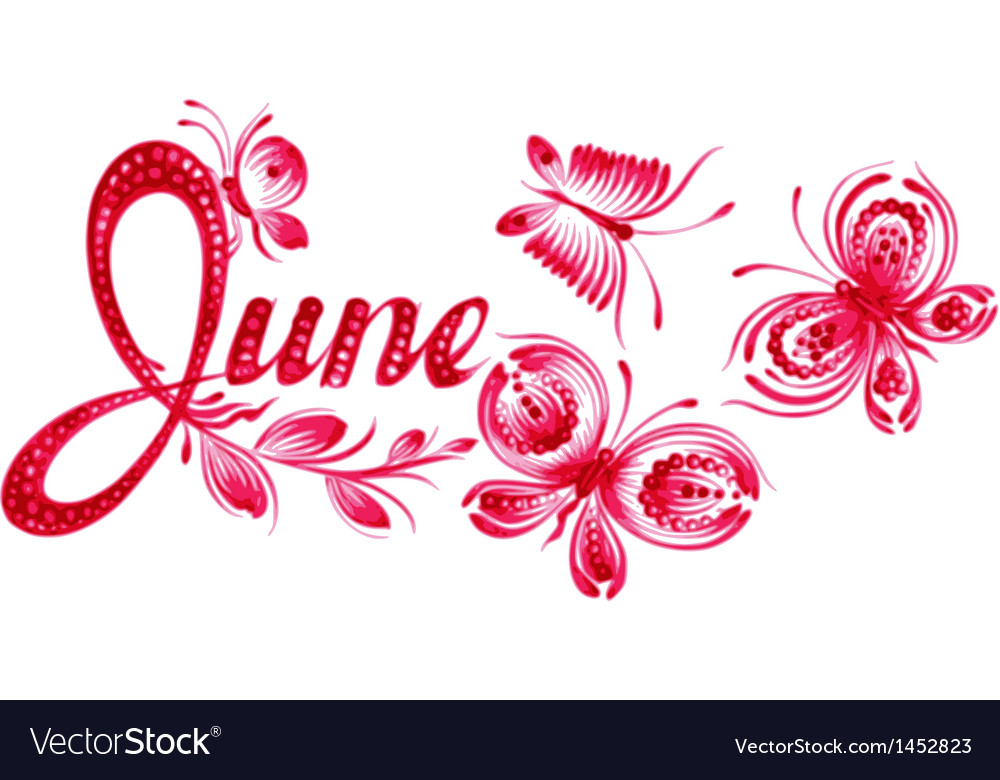 June the name of the month vector | Price: 1 Credit (USD $1)