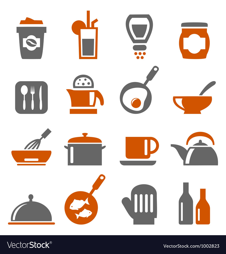 Kitchen ware icons vector | Price: 1 Credit (USD $1)
