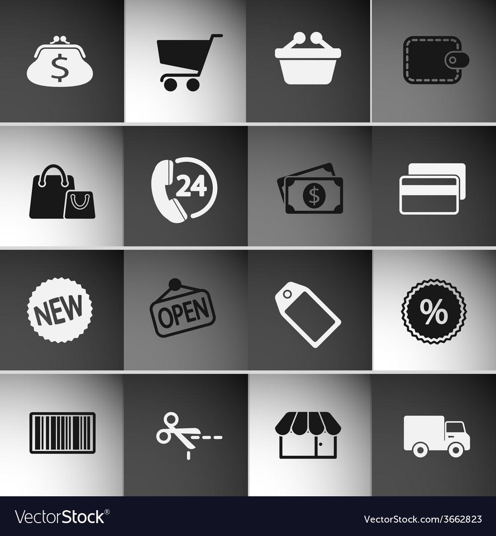 Market icons set vector | Price: 1 Credit (USD $1)