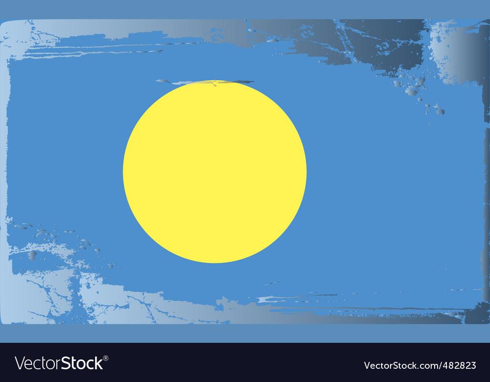 Palau national flag vector | Price: 1 Credit (USD $1)