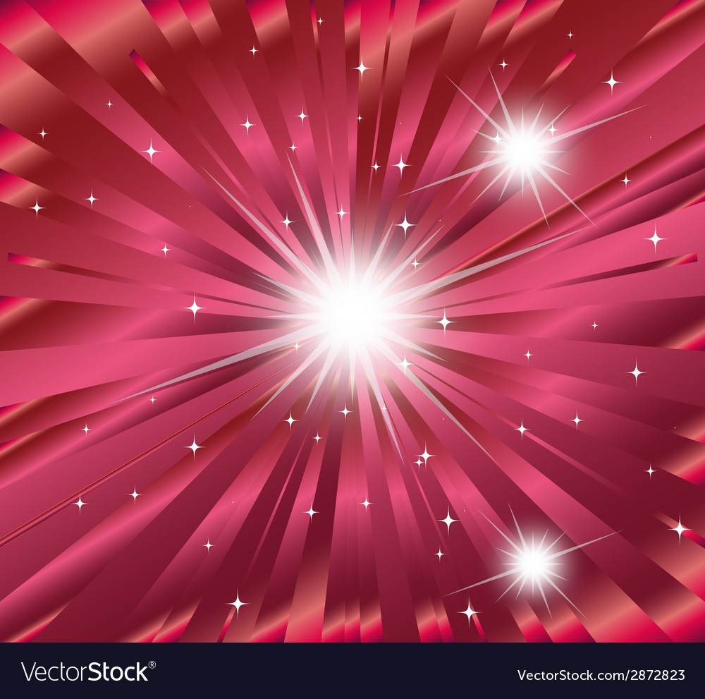 Pink ray star burst background vector | Price: 1 Credit (USD $1)