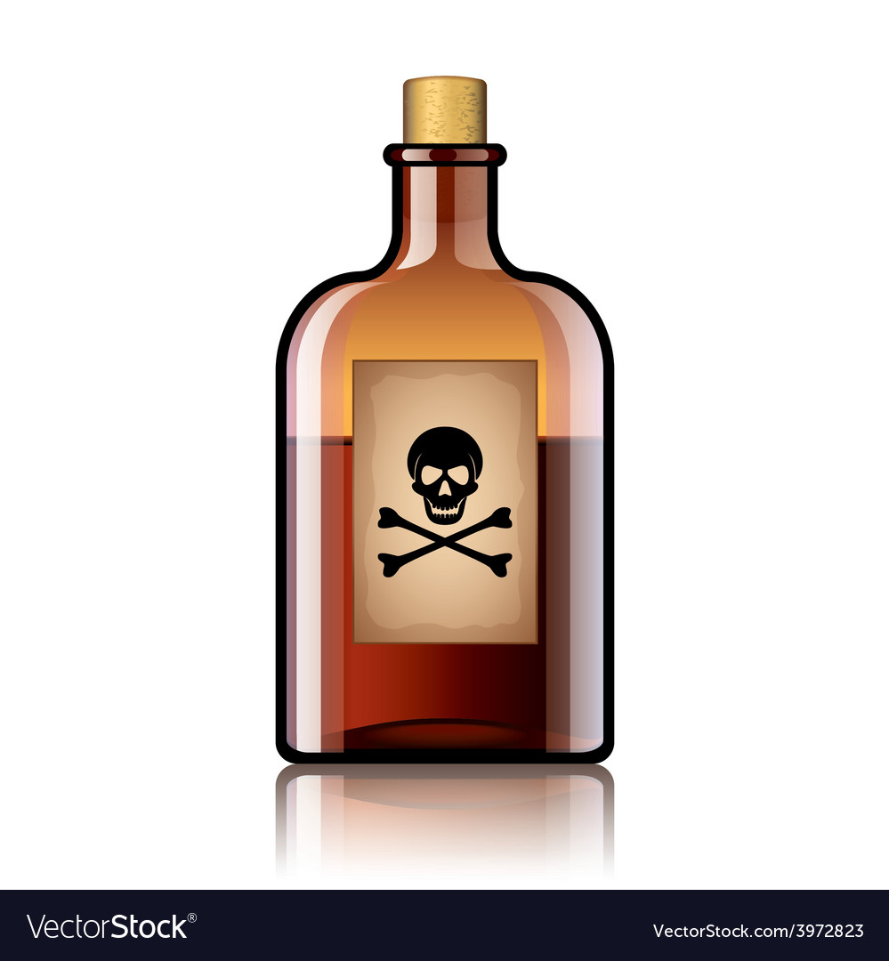 Poison bottle isolated vector | Price: 1 Credit (USD $1)