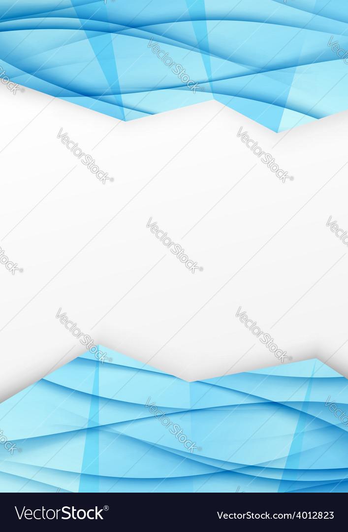 Swoosh wave geometrical border blue brochurejpg vector | Price: 1 Credit (USD $1)