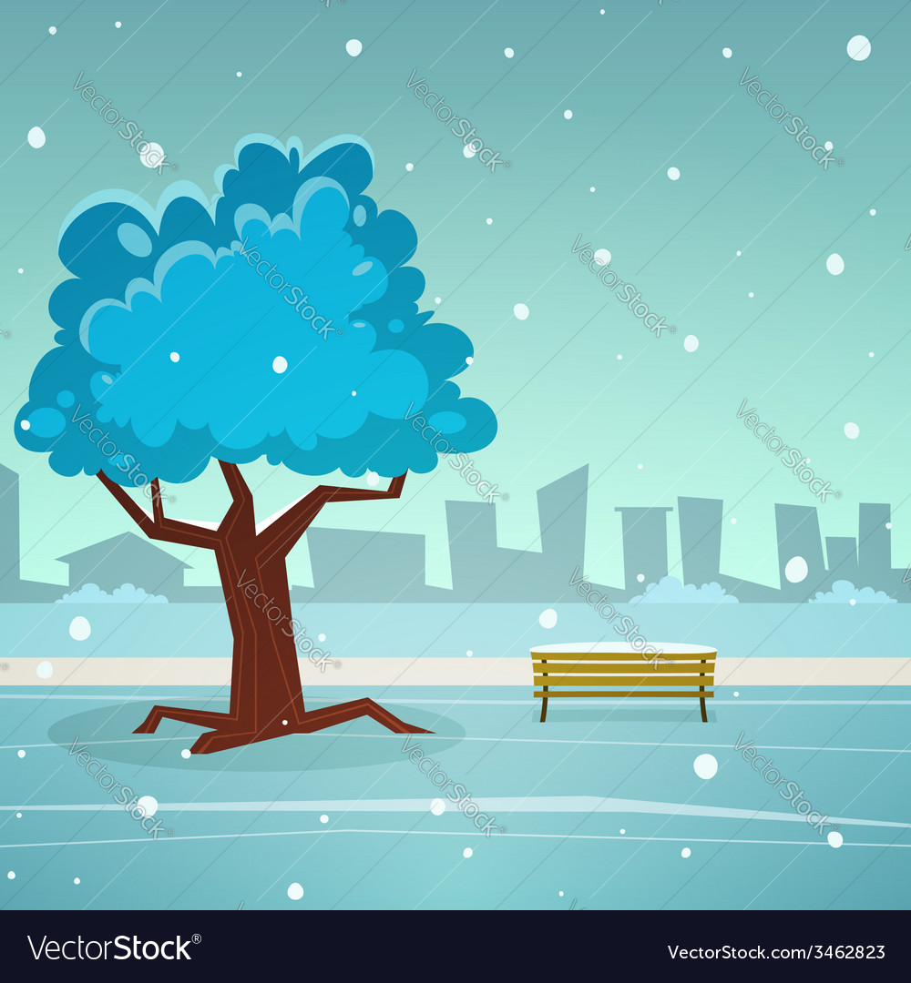 Winter park vector | Price: 3 Credit (USD $3)