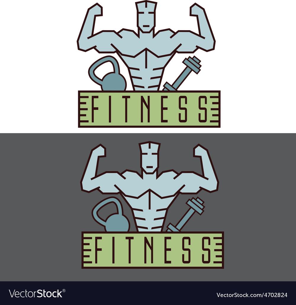 Bodybuilder fitness model line craft emblem vector   Price: 1 Credit (USD $1)