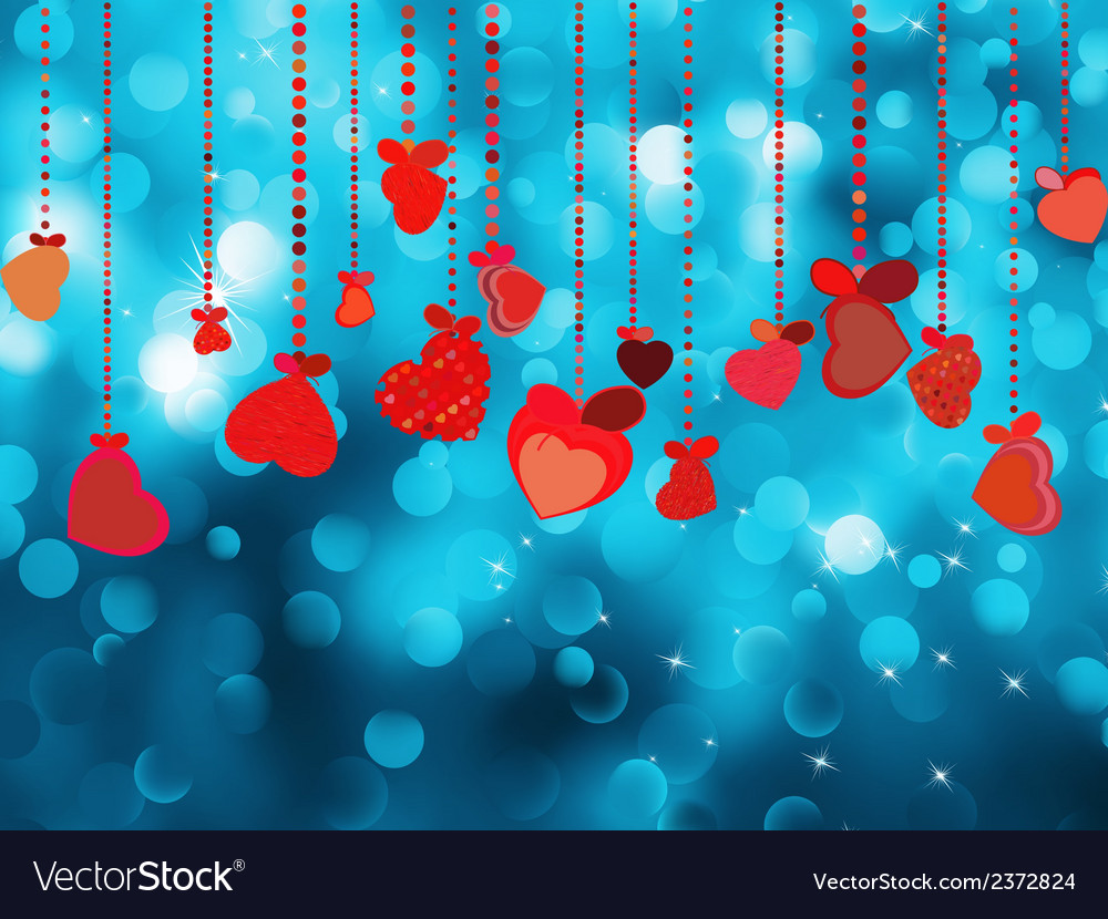 Bright red heart and circle bokeh eps 8 vector | Price: 1 Credit (USD $1)