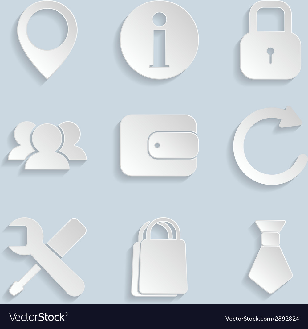 Business paper icons vol2 vector | Price: 1 Credit (USD $1)