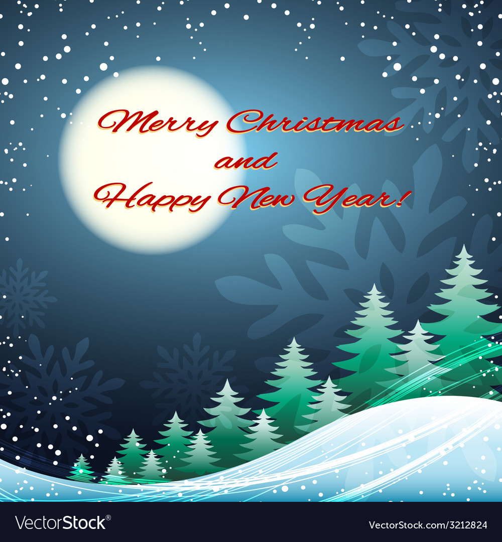 Christmas and happy new year festive vector | Price: 1 Credit (USD $1)