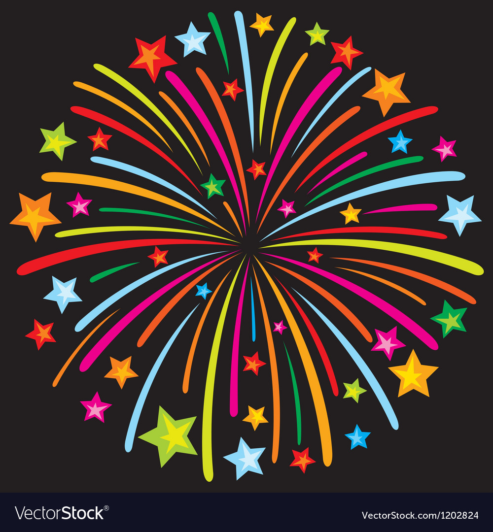 Firework vector | Price: 1 Credit (USD $1)